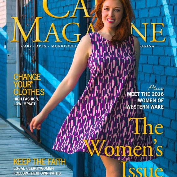 Redress Raleigh Shoot on the cover of Cary Magazine